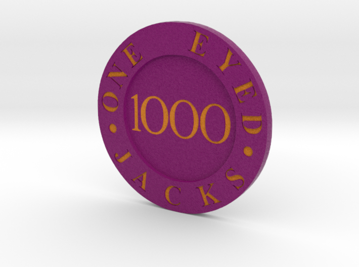 One Eyed Jacks Poker Chip 3d printed