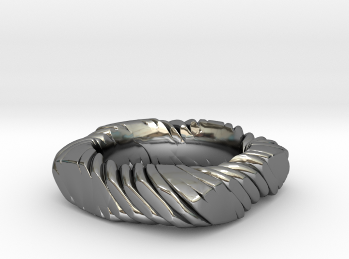 ROPE IN PILLOW CUT RING SIZE 6.5 3d printed