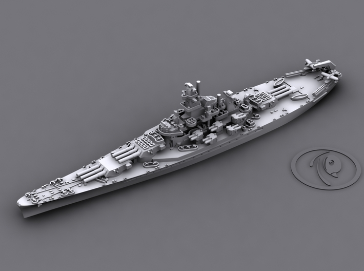 1/4000 US BB South Dakota Class [1942] 3d printed BB60 Alabama [1942]