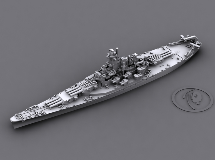 1/4000 US BB South Dakota Class [1942] 3d printed BB59 Massachusetts [1942]
