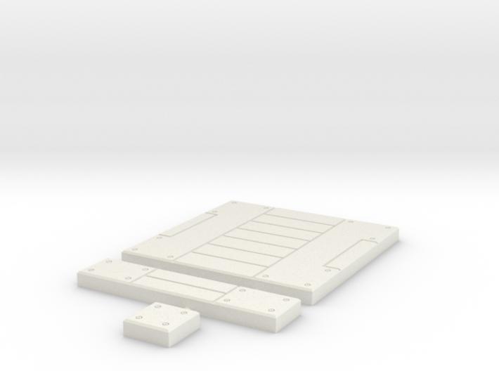 SciFi Tile 21 - Panelled Corridor 3d printed