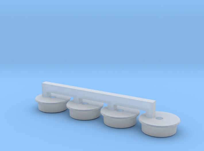 Roue de guidage rail pour BR1T et MRT HO 1/87 3d printed