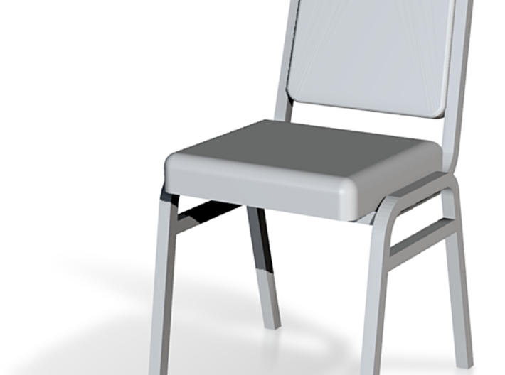 1:24 Metal Stacking Chair 3d printed