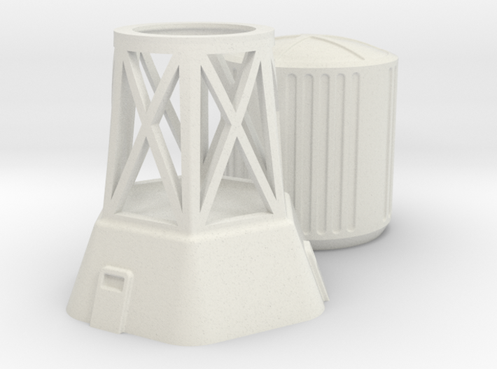 Water Tower 3d printed