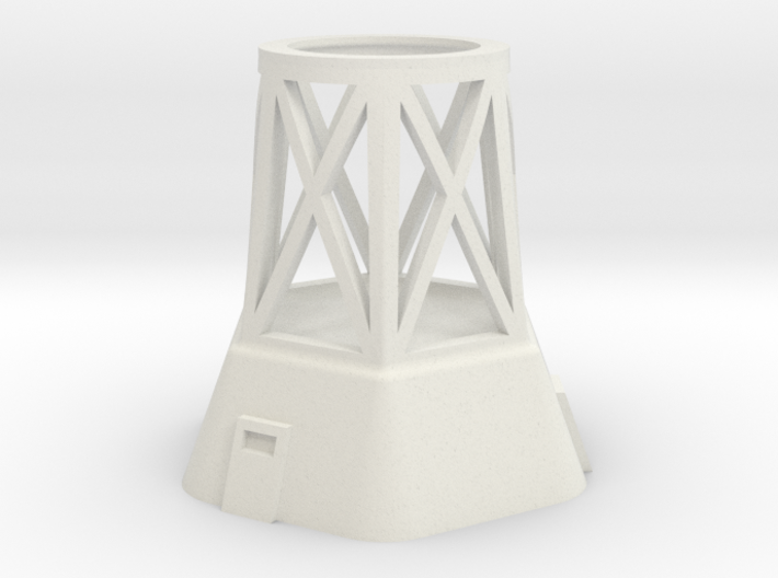 Concrete Tower Base Section 3d printed