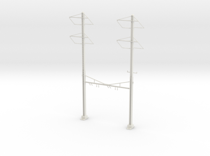 PRR CATENARY HO SCALE 2TRK CURVED STEADY 2-2PH 3d printed