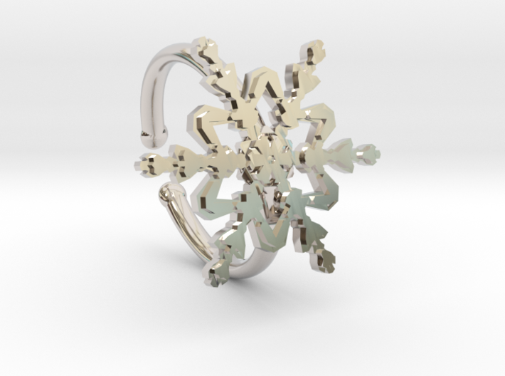 Snowflake Ring 2 d=16.5mm Adjustable h21d165a 3d printed