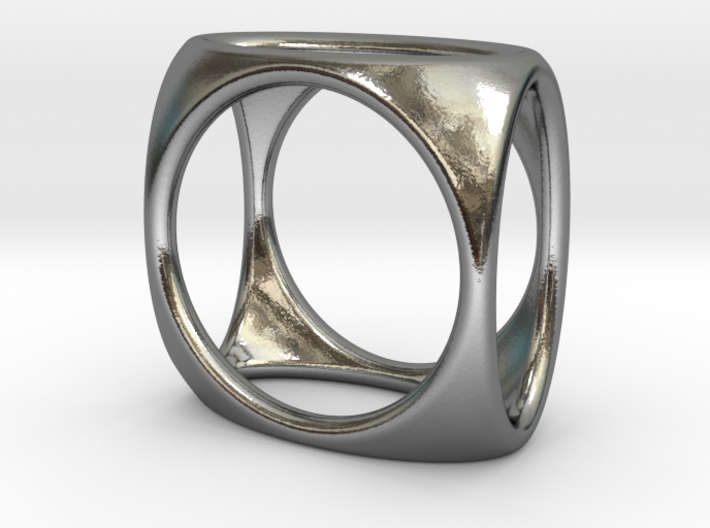 Square Ring model A - size 10 3d printed