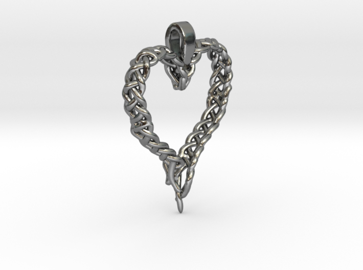 Celtic Unraveled Heart 3d printed