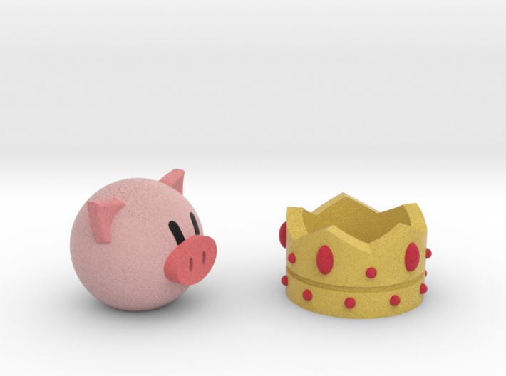 Crown And Pig 3d printed