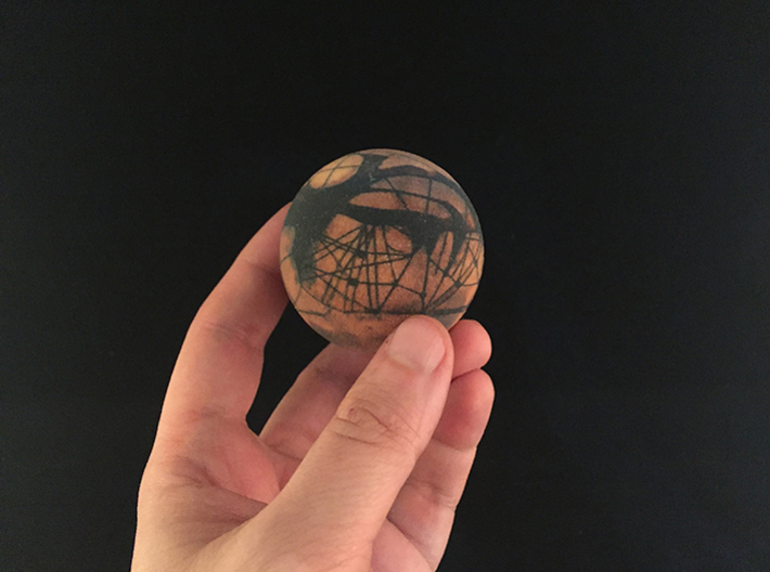 Lowellian Mars - 1895 3d printed