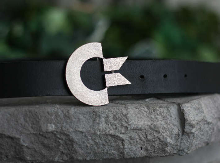 The Commodore Belt Buckle 3d printed