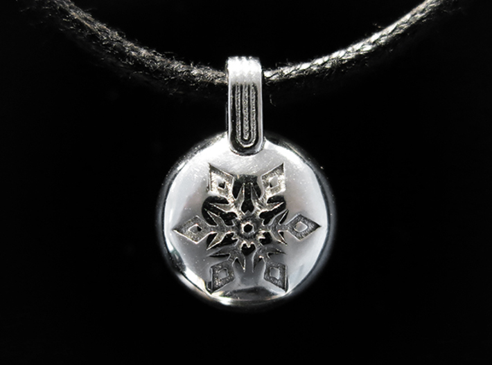 Snow 3d printed Rhodium Plated