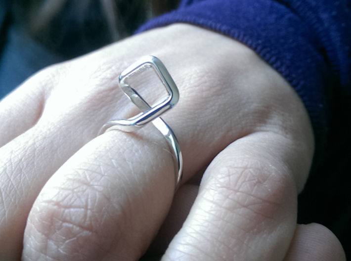 A-LINE Dancing D.011 Ring US size 3.5, d=14,5mm 3d printed
