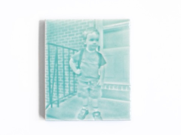 Celadon Selfie Tile II (Smooth Round Edge) 3d printed