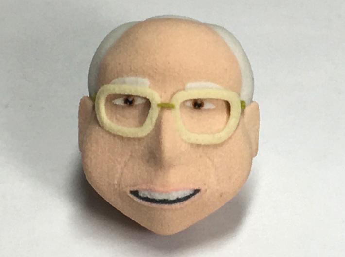 Head, Bernie Bobblehead 3d printed
