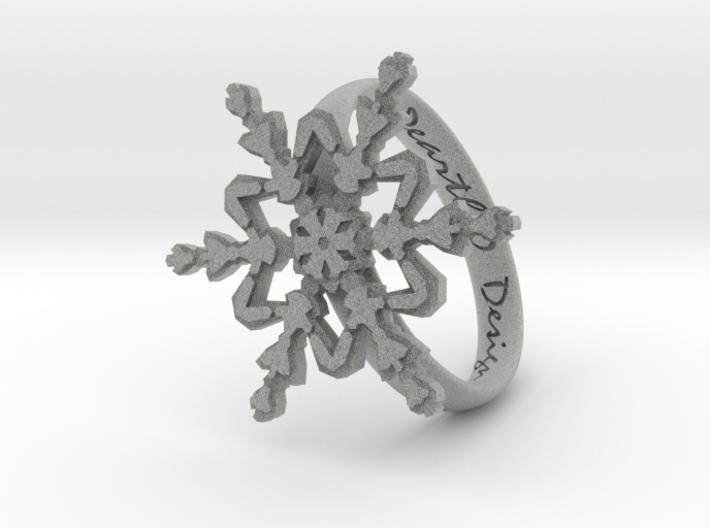 Snowflake Ring 2 d=19mm h35d19 3d printed