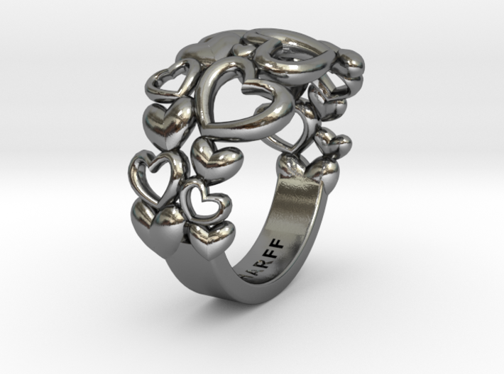 Heart By Heart Ring No2 57 3d printed