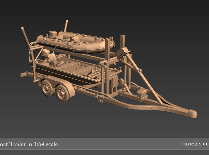 Boat trailer 01. 1:64 Scale  3d printed