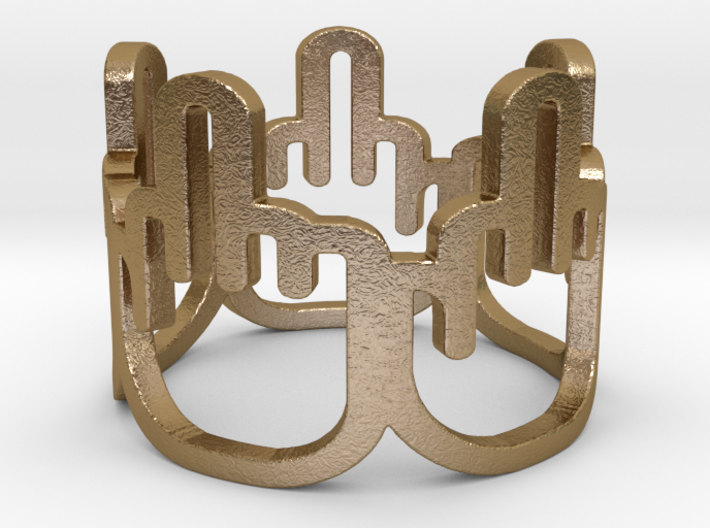 Middle Finger Ring Size 8 3d printed