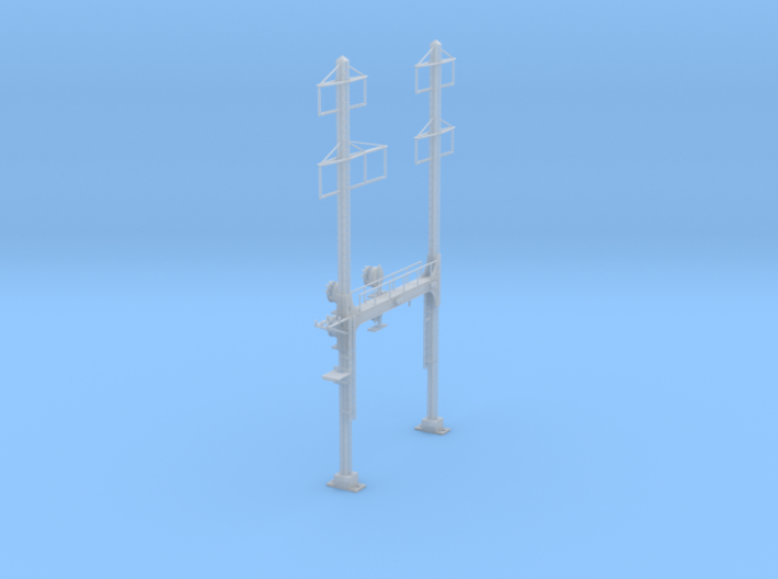 CATENARY PRR BEAM SIGNAL 2 TRACK 2-3 PHASE N SCALE 3d printed