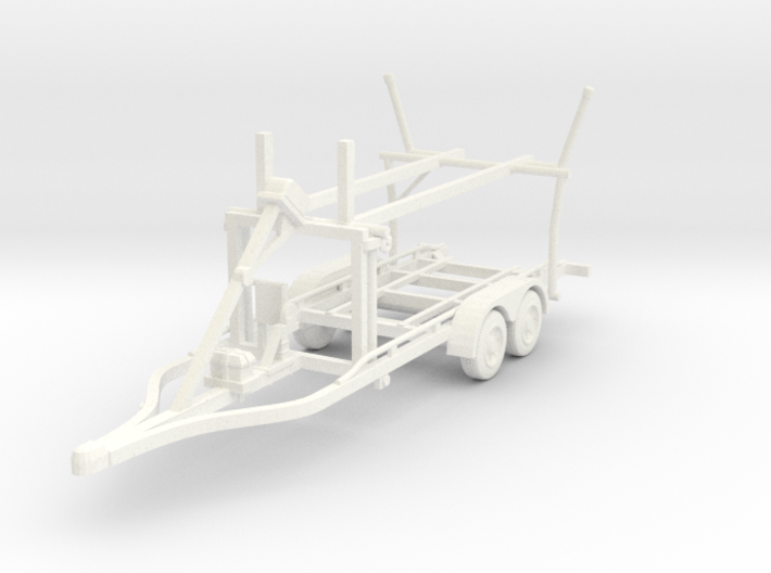 Boat trailer 01. HO Scale (1:87) 3d printed