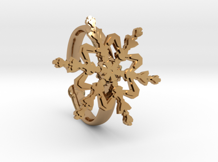 Snowflake Ring 2 d=19.5mm Adjustable h35d195a 3d printed
