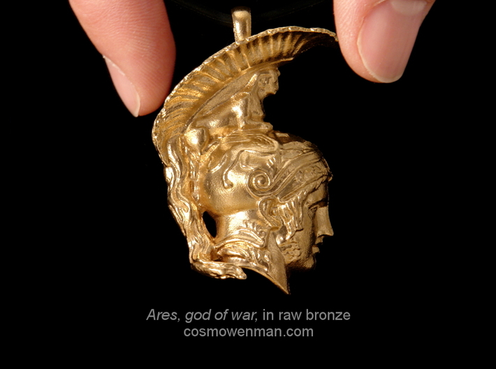 Ares, god of war, pendant 3d printed