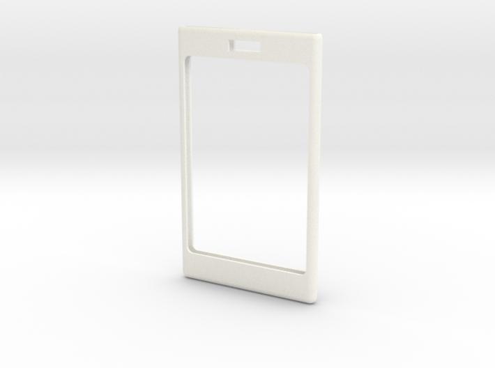 Badge-top-square-bevel-loop 3d printed