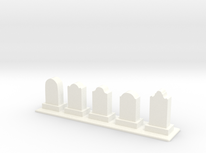 Row of Tomb Stones 3d printed