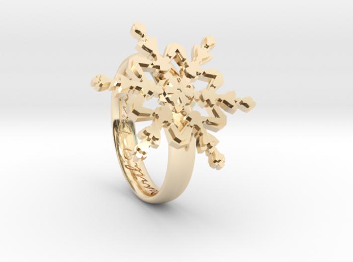 Snowflake Ring 2 d=16.5mm h35d165 3d printed