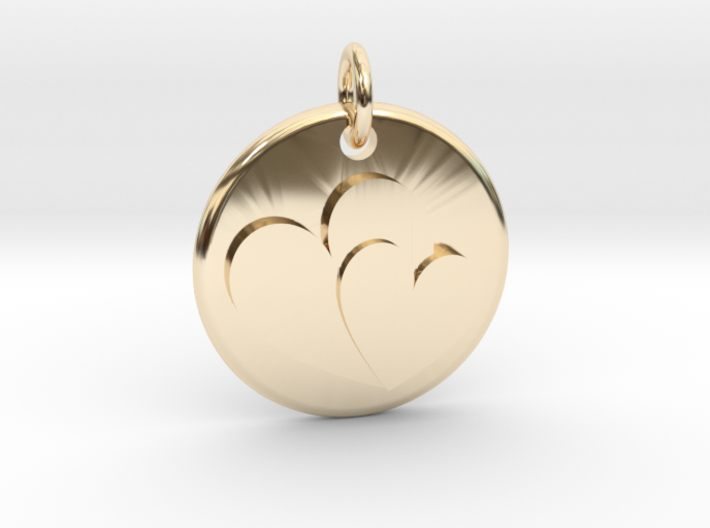 Two hearts pendant t888mcant by lastozka two hearts pendant 3d printed aloadofball Image collections