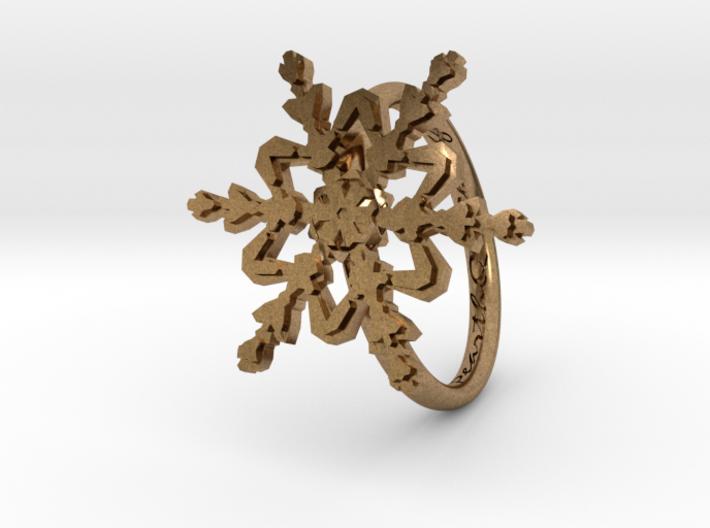 Snowflake Ring 2 d=16.5mm h21d165 3d printed