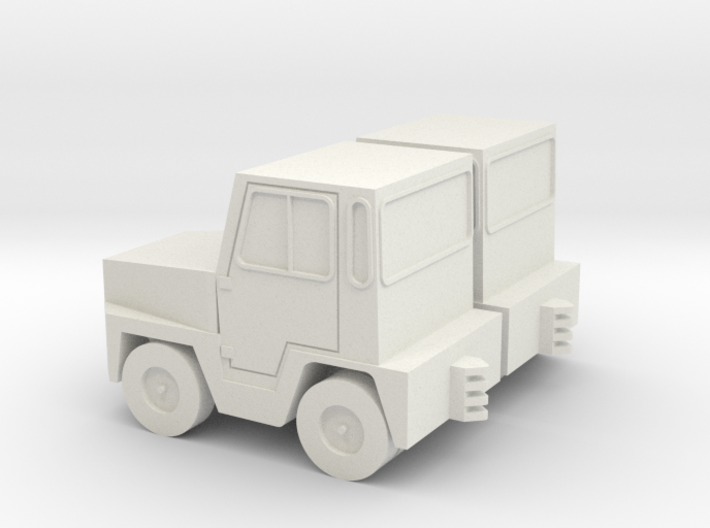 1:72 GSE Airport Baggage Tractor (2pc) 3d printed