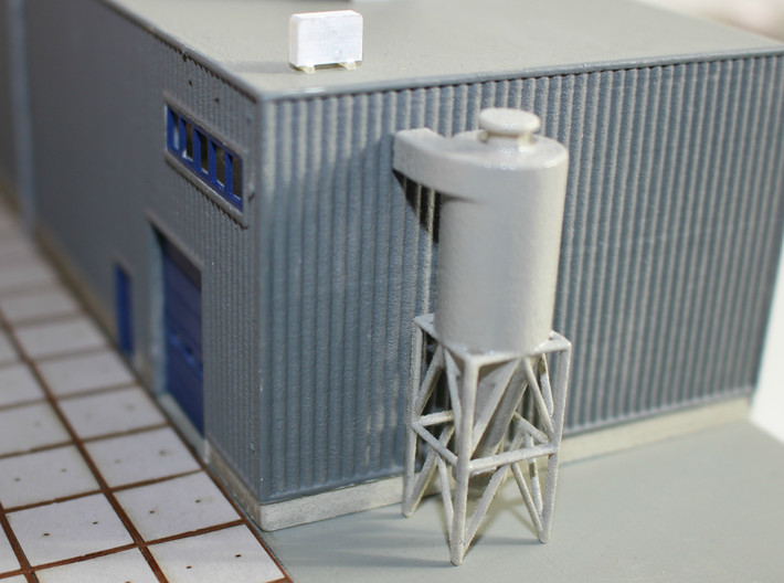 Z Scale Cyclone Filter 3d printed This model in N Scale (1:160)