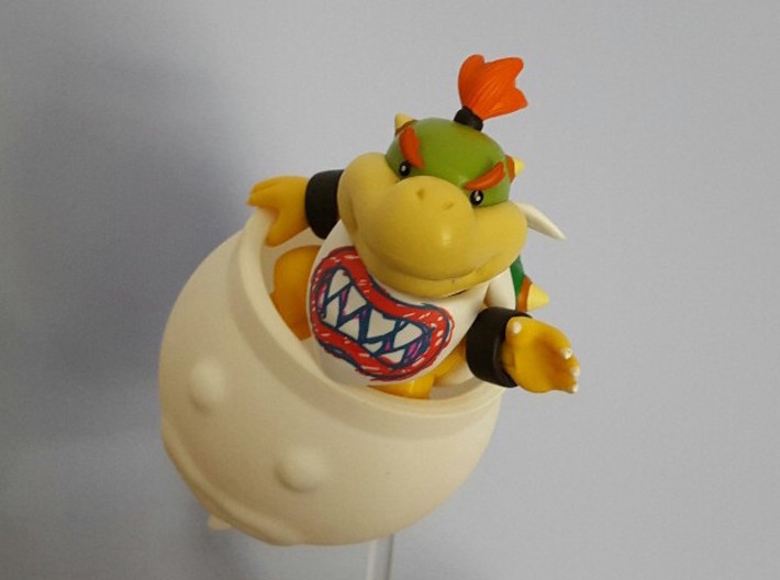 Koopa Clown Car Jr. 3d printed