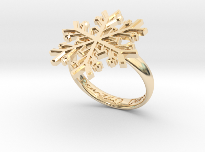 Snowflake Ring 1 d=18.5mm h35d185 3d printed