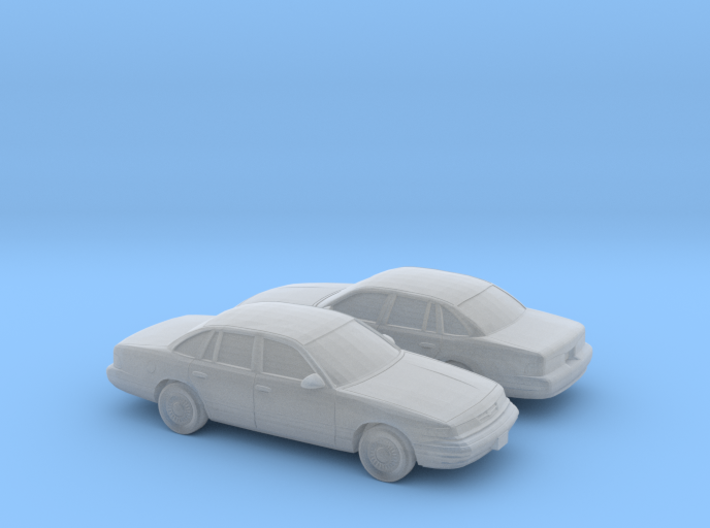 1/160 2X 1995-97 Ford Crown Victoria 3d printed