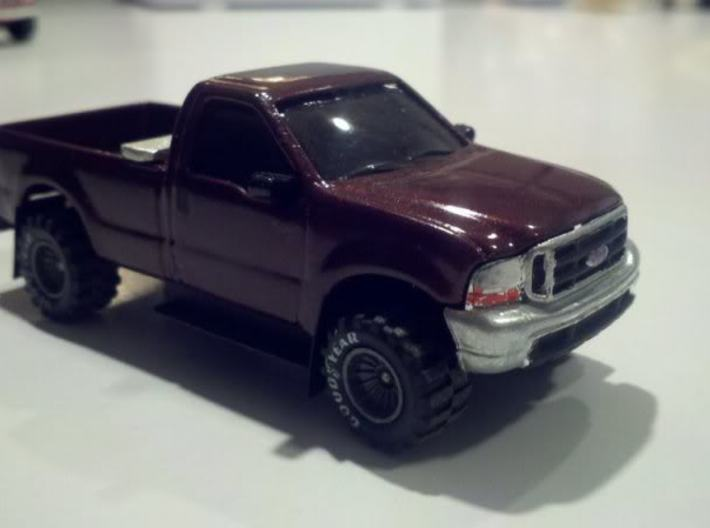 1/64 Newer style Ertl Ford Truck Interior 3d printed