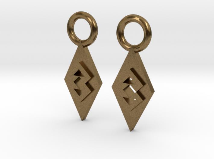 TriangleEarrings 3d printed