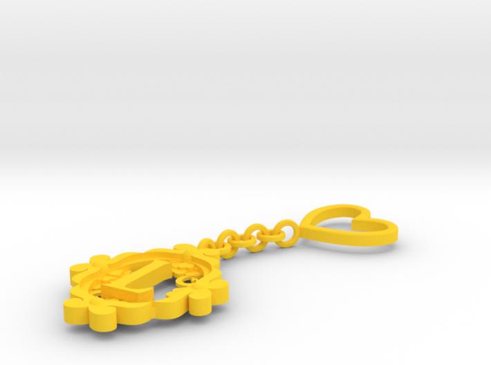 L Keychain Art Nouveau 3d printed