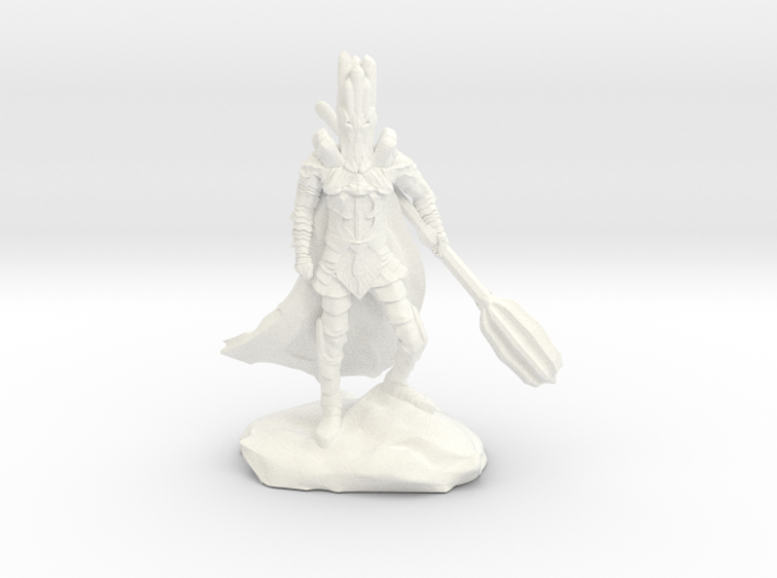 The Dark Lord with His Deadly Mace 3d printed