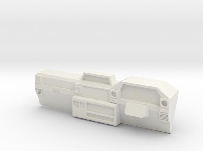 Dash for 1:10 scale LandCruiser FJ 70 body 3d printed