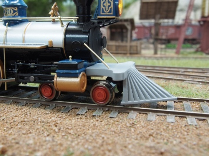 HO scale old time locomotive cowcatcher set 3d printed