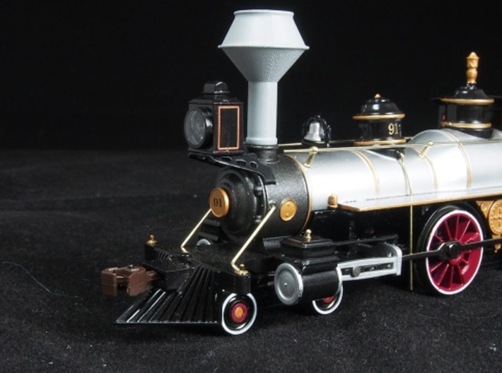 HO scale old time locomotive smokestack set 1 3d printed
