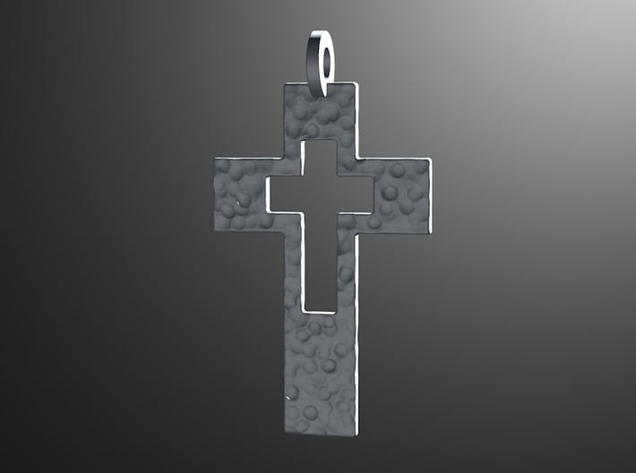 Cross Cutout 3d printed render