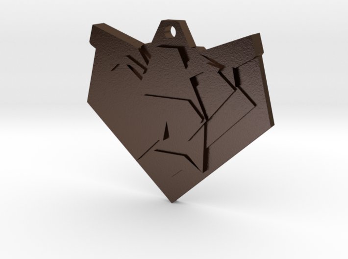 Lion Origami Earring 3d printed