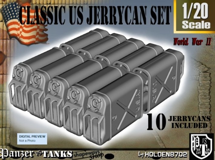 1-20 US Jerrycan TEN UNITS 3d printed