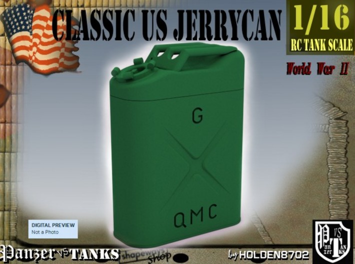 1-16 Jerrycan US Army 3d printed