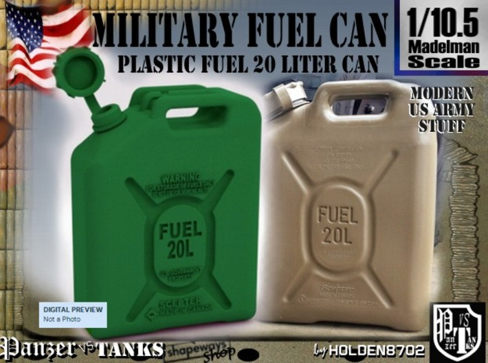 1-10-5 Military Fuel Can 3d printed